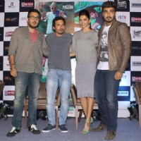 Dinesh Vijan, Homi Adajania, Arjun Kapoor and Deepika Padukone at the Promotions of Finding Fanny