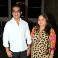 Abhijeet Bhattacharya with his wife at Three Women Play