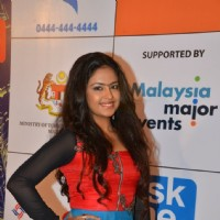 Avika Gor poses for the camera at Mircromax SIIMA Awards Day 1
