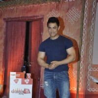 Aamir Khan poses for the media at Aaj Tak Panchayat Talk Show