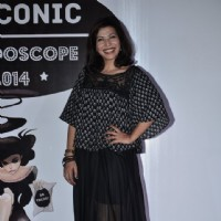 Shilpa Shukla poses for the media at Sophia College's Kaleidoscope Festival