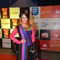 Avika Gor poses for the media at Mircromax SIIMA Awards Day 2