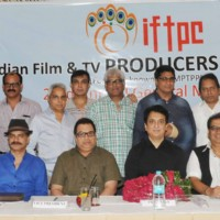 Prominent producers at The Indian Film and TV Producers Council Event