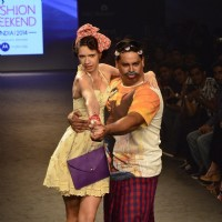 Cyrus Broacha and Kalki Koechlin at the Myntra Fashion Week Day 2