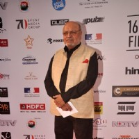 Shyam Benegal poses for the media at the 16th MAMI Film Festival