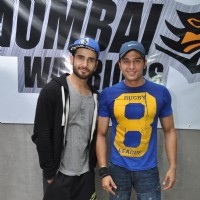 Karan Tacker and Gaurav Khanna pose for the media