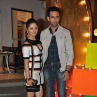 Nandish Sandhu and Rashmi Desai at SBS Party