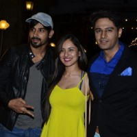 Puja Bose poses with Kunal Verma and Gaurav Khanna at SBS Party
