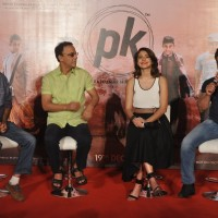 Aamir Khan addressing the audience at the Teaser Trailer Launch of P.K.