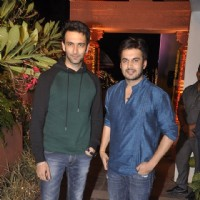 Nandish Sandhu snapped with Ajay Chaudhary at Sachin Joshi's Diwali Bash