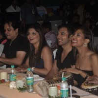 TV Celebs enjoy the jambi drum at a Dance Competition