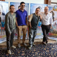 Celebs pose for the media at the Press Conference of The Shaukeens
