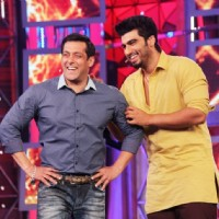 Arjun Kapoor and Salman Khan share a laugh on Bigg Boss 8