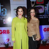 Simone Singh & Sanjeeda Shaikh were seen at the ITA Awards 2014