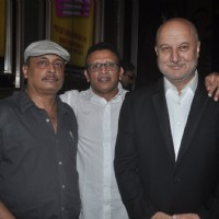 Anupam Kher, Piyush Mishra and Anu Kapoor pose at the Premier of The Shaukeens