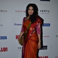 Nandana Sen poses for the media at Hello! Hall of Fame