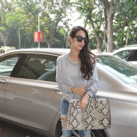 Malaika Arora Khan on her way to Hyderabad