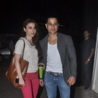 Kunal Khemu and Soha Ali Khan pose for the media at the Special Screening of Happy Ending