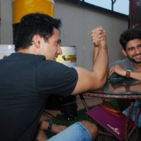 Iqbal Khan and Hussain Kuwajerwala at the Launch of Khatron Ke Khiladi - Darr Ka Blockbuster Return