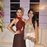 Malaika Arora Khan poses with Sonaakshi Raaj at her Store Launch