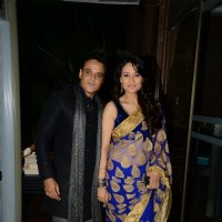 Yash Tonk poses with wife Gauri at Arpita Khan's Wedding Reception