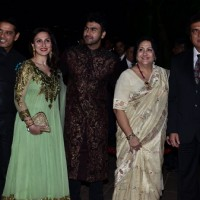 Anup Soni, Juhi Babbar, Arya Babbar and Raj Babbar at Arpita Khan's Wedding Reception