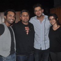 Celebs pose for the media at Shaad Randhawa's Party