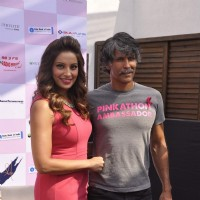 Bipasha Basu and Milind Soman were at the Launch of the 3rd Edition of Pinkathon