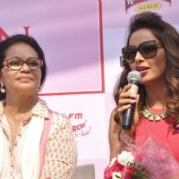 Bipasha Basu addresses the Launch of the 3rd Edition of Pinkathon