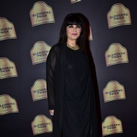 Neeta Lulla poses for the media at Blender's Pride Fashion Tour 2014