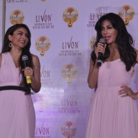 Chitrangda Singh interacts with the audience at the Launch of Livon Moroccan Silk Serum