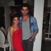 Mohit Malik and Neha Marda pose for the media at the Success Bash of Doli Armaanon Ki