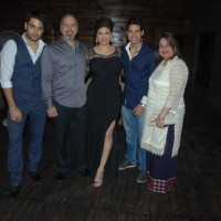 Vivian Dsena and Vahbbiz Dorabjee Dsena pose with their Family at the Birthday Bash