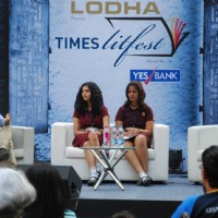 Chetan Bhagat addresses the Times Lit Fest