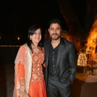 Vikas Bhalla and his wife at Purbi Joshi & Valentino's Wedding
