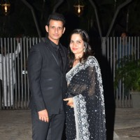 Sharman Joshi with his wife at Purbi Joshi & Valentino's Wedding