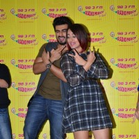 Arjun Kapoor and Sonakshi Sinha perform at the Promotion of Tevar on Radio Mirchi 98.3 FM