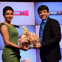 Priyanka Chopra being felicitated at the Launch of Chocolate Bars Hoppits