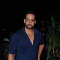 Salil Acharya poses for the media at Richa Chadda's Birthday Bash