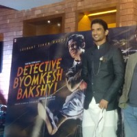 Sushant Singh Rajput and Dibakar Banerjee at the Poster Launch of Detective Byomkesh Bakshy!