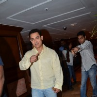 Aamir Khan was snapped at P.K. Contest Winners Meet