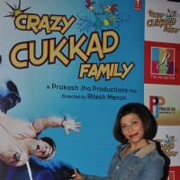 Shilpa Shukla poses for the media at the Promotions of Crazy Cukkad Family