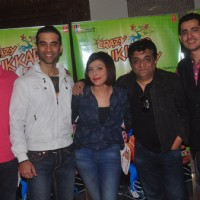 Team poses for the media at the Promotions of Crazy Cukkad Family