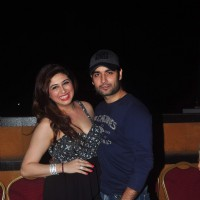 Vivian Dsena and Vahbbiz Dorabjee pose for the media at Ravi Dubey's Birthday Bash