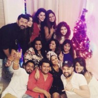 Jennifer Winget with her friends celebrating Christmas, 2014.