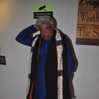 Javed Akhtar poses for the media at the Launch of Puja Miri Yagnik's Book Curse Of The Winwoods