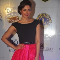 Priyanka Chopra poses for the media at Lion Gold Awards