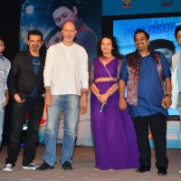 Celebs pose for the media at the Music Launch of Marathi Movie Mitwa