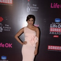 Priyanka Chopra poses for the media at 21st Annual Life OK Screen Awards Red Carpet