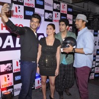 Karan Kundra clicks a selfie with the Team at the Press Conference of MTV Roadies X2